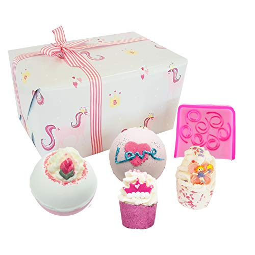 Bomb Cosmetics Sprinkle of Magic Handmade Wrapped Bath and Body Gift Pack, Contains 5-Pieces, Magical Unicorn Princess Themed, 17.6 Ounces, Designed in UK