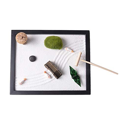 LOVIVER Zen Garten Sand Miniatur Spielzeug Haus Zimmer Fengshui Dekoration Geschenke