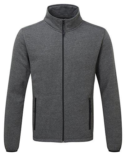 Castle Clothing 130Melford felpa con cerniera, colore: grigio, taglia 2x L
