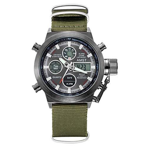 AMST Herren Sportuhr DREI Sechs Pin Kalenderband weben wasserdichte militärische Armbanduhr