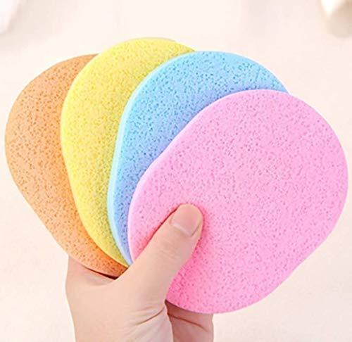 Shuny 50 STÜCKE Reinigungsschwamm Feuchttücher,Weiche Reinigung Puderquaste,Make-Up Waschschwamm Typ Gesicht Waschen Puff Flutter(zufällige Farbe)
