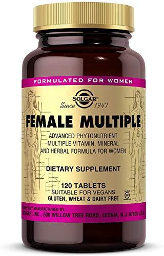 Solgar Female Multiple, 120 Tablets - Multivitamin, Mineral & Herbal Formula for Women - Advanced Phytonutrient - Vegan, Gluten Free, Dairy Free - 40 Servings
