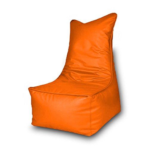 Pouf Beanbag Trono en polyester imperméable pour extérieur 85 x 105 cm (Orange)
