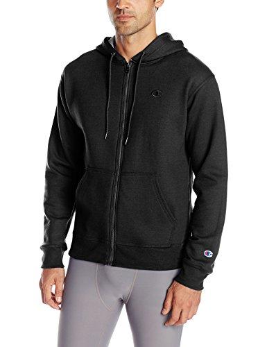 Champion Men's Powerblend Full-Zip Hoodie, Black, Medium