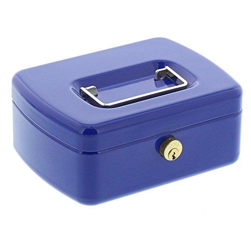 Burg-Wächter Geldkassette mit Hartgeldeinsatz, Messingstift-Zylinder, Office 2167 BL