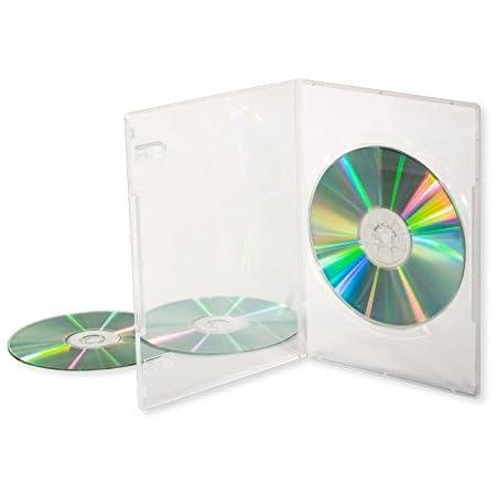Dragon Trading® - 10 estuches de almacenamiento para CD, DVD, Blu-ray con capacidad para una unidad, 14 mm, color transparente