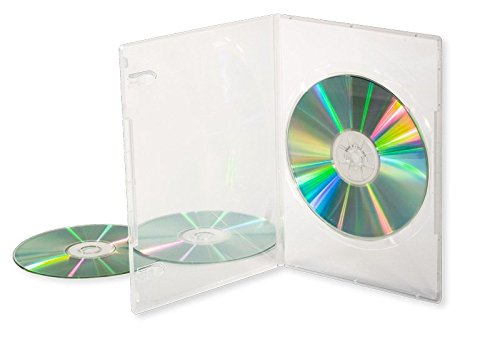 Dragon Trading®, 50 custodie singole per CD/DVD/BLU RAY da 14 mm, trasparenti per 1 disco