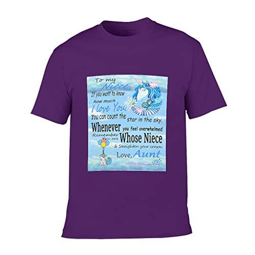 O5KFD & 8 - Camiseta de algodón para niños con cuello redondo, diseño de unicornio