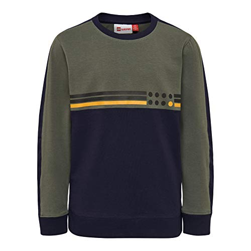 Lego Wear Lego Boy LWTIGER g T-Shirt, Multicolore (Dark Green 883), 110 Bambino