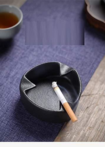 DZX Hermoso cenicero para cenicero Interior con Tapa, Sala de Estar, Sala de Estar, Mesa de Centro, Moderno y Minimalista, cenicero de cerámica para el hogar con Personalidad
