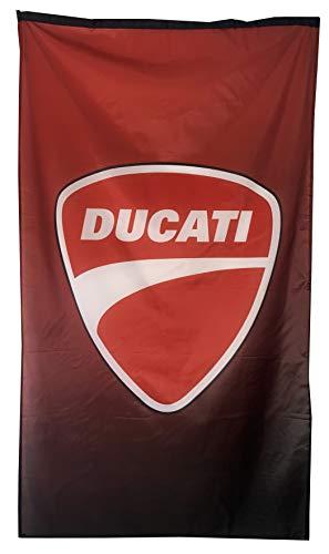 Cyn Flags Wagen Moto Garage Fahne Arbeteit Mit Ducati 3D Rot & Schwarz Rot Vertikal Flagge 3 X 5 FT (150 x 90cm)