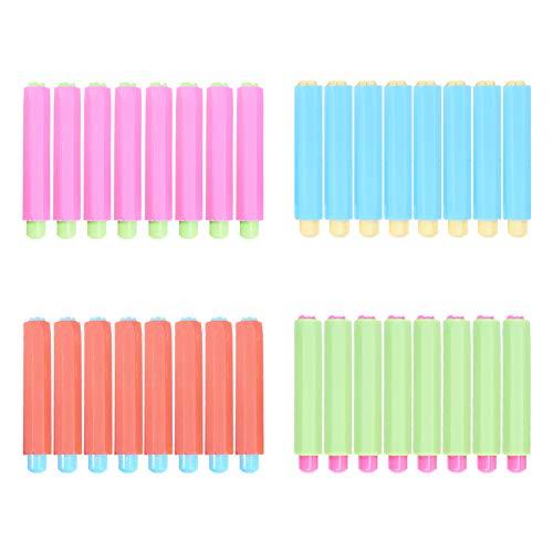 NBEADS Clip de Tiza de 32 Pieza, 4 Colores Ajustable Plástico Pizarra Escritura Pintura Dibujo Tiza Mantener Titular para Útiles Escolares