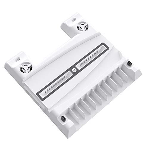 adgbd Soporte Vertical para PS5 Slim con Ventiladores, Base para PS5 con 2 Ventiladores Refrigeración,Estante De Almacenamiento para 11 Juegos,Puede Admitir La Transmisión De Datos USB2.0