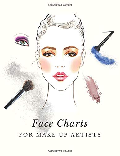 Face Charts for Make Up Artists: Pink Makeup Tutorial Notebook for Beginners and Pros, Create and Record Your Designs, Coloring Practice Book,Makeup ... and Grooming Sheets (Make Up Charts Workbook)