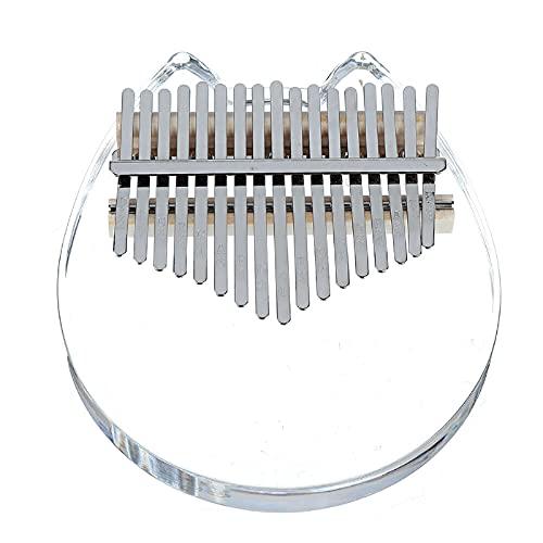 Pulgar Piano Cristal Gato Cara Kalimba Acrílico 17 Pulgares Teclas Piano Instrumentos Musicales Para Niños Principiantes