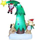 Gonfiabili di Natale Decorazioni Albero di Natale e Babbo Natale le decorazioni del giardino gonfiabile Yard decorazioni di natale Albero Con GUIDATO Si illumina per la festa del partito di natale Yar