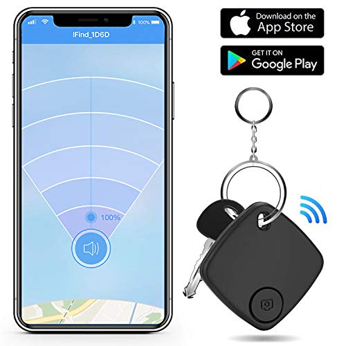 Key Finder Locator with App for Phone Bluetooth Smart Tracker Phone Finder Wallet Tracker for Keychain Bag Luggage Anti-Lost Item Finder