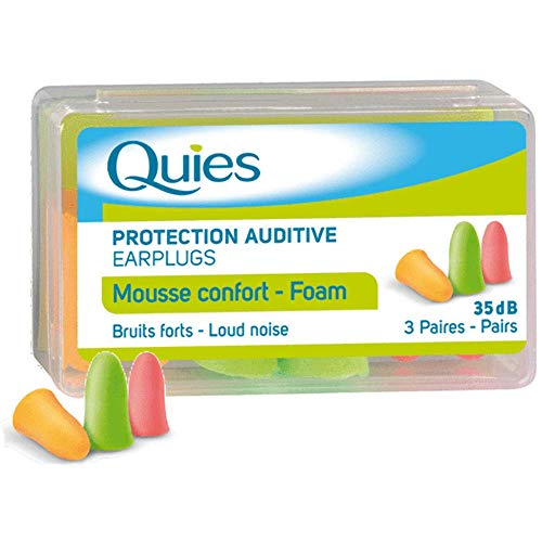 QUIES - protection auditive mousse disco - boite de 3 paires