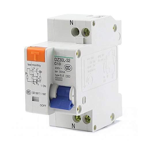 LUOXUEFEI Interruttore Differenziale Interruttore Magnetotermico 1P N 230V Dispositivo Antiperdita Interruttore Magnetotermico 10A 16A 20A 25A 32A