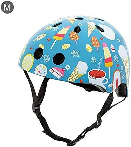 BTAWM Helmets Kreative Cartoon-Muster Kinder Fahrradhelm Kinder Fahrrad Sicherheit Reiten Roller Schutzausrüstung für 2-5 Jahre alte Kinder