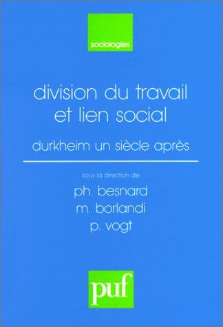Division du travail et lien social