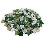 mosamare Pietre per mosaici in rame (2 x 2 cm, 900 g, circa 340 pezzi) – Mosaico colorato ideale per il fai da te – mosaico in vetro – senza confezione di plastica (rame verde)