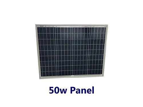 Hitechsolar Panel Solar policristalino de Alta eficiencia de 50 W para Cargar baterías de 12 V en caravanas, autocaravanas, Casas rodantes, Barcos y soluciones de alimentación Offgrid