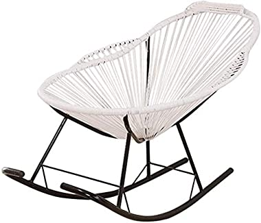 ADHW Rattan Rocking Chair,Indoor Deck Chairs,for Kids Adults,Balcony Reclining Deck Chairs,Sun-Lounger Recliners,Garden Chair