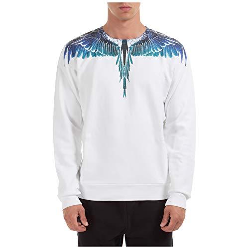 MARCELO BURLON Herren Sweatshirt Wings Bianco S