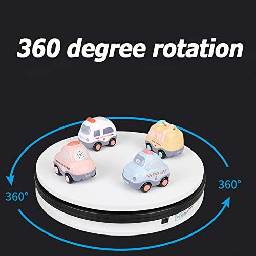 Affichage rotatif électrique, composer 360 kWh, diamètre 35 cm, la capacité de charge maximale de 30 kg pour les bijoux de réglage de modèle photographique (blanc),Blanc Black