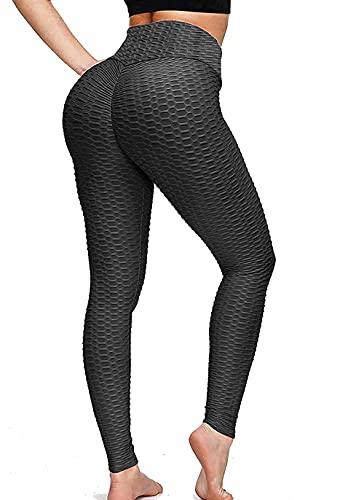 Yvette Damen Slim Fit Hohe Taille Blickdicht Sporthose Lange Leggings mit Bauchkontrolle Fitness Yoga Hosen