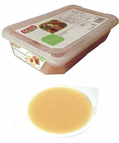 【シコリ】冷凍ペシュブランシュピューレ(10%加糖)1kg<白桃>