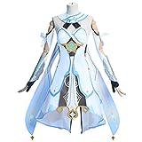 Xin Hai Yuan Game Genshin - Disfraz de lumínica para mujer, color blanco
