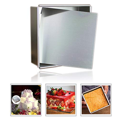 Anodized Aluminum Square Cheesecake Pan Chiffon Cake Mold Baking Mould with Removable Bottom 14 Inch x 14 inch x 3 inch
