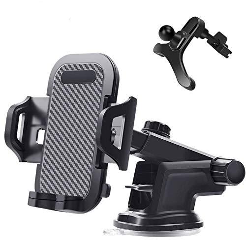 HongHe Soporte para teléfono para automóvil, Soporte Universal para teléfono para salpicadero de automóvil, Parabrisas, ventilación, Compatible con iPhone 11 Pro MAX/XR / 8/8 Plus y más