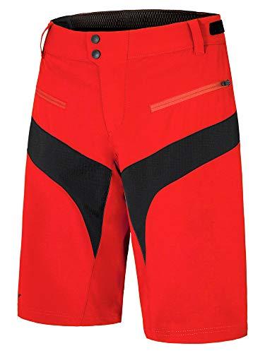 Ziener Herren NISCHA X-Function Fahrrad-Shorts/Rad-Hose Mit Innenhose/Mountainbike - Atmungsaktiv|schnelltrocknend|gepolstert, New red, 46