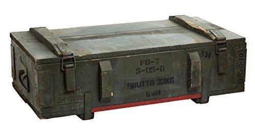 Caja de municiones PG 7 Almacenamiento pecho ca 80x42x24cm Cajón militar Munitionsbox Caja de madera Caja de Madera Caja de vino Cajón de manzana Shabby Vintage