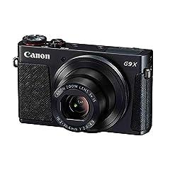Canon PowerShot G9 X Mark II kompaktkamera (20,1 MP, 7,5 cm (3 tum) Display, Wi-Fi, NFC, 1080p, Full HD) svart