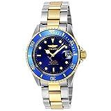 [インビクタ] 腕時計 Pro Diver 自動巻き 40mm ケース スチール ゴールド ステンレス鋼ストラップ 青ダイヤル 8928OB メンズ 正規輸入品 シルバー [並行輸入品]