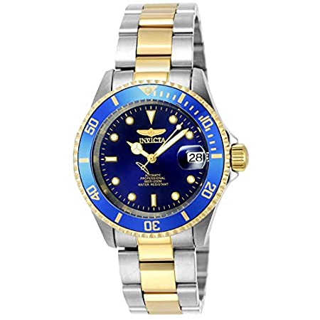 Fashion Shopping Invicta Men's Pro Diver 40mm Steel and Gold Tone Stainless Steel Automatic Watch with Coin Edge Bezel, Two Tone/Blue…