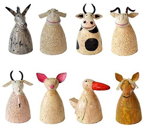 ETC Zaunhocker Bauerhoftiere Esel/Schaf/Kuh/Schafbock/Ziege/Schwein/Gans/Pferd Metall bemalt Verschiedene Motive Preis für 1 Stück