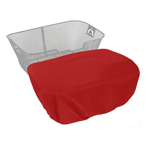 MadeForRain Extra großer, wasserdichter Regenschutzbezug für Fahrradkörbe CityTurtle XL - Tomatenrot