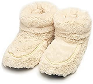 Furry Warmers Fully Microwavable Furry Boots Cream