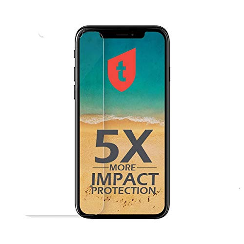Tolerate Impact Glass, 5 veces más fuerte que el iPhone vidrio, Installationsapplikator incluido, 0,3 mm