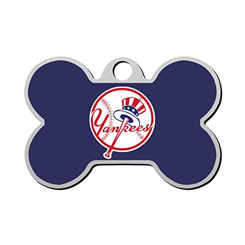 GPZHM New-York-Yankees Pet Tag - Bone Shaped Dog Tag & Cat Tags Pet ID Tag Personalized Custom Your Pet's Name & Number 3D Printing