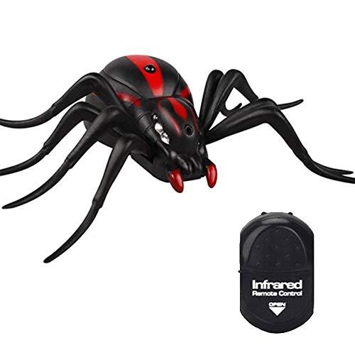 Araña de Control Remoto,Araña Animal de Alta Simulación Control Remoto por Infrarrojos Regalo de Juguete para Niños,Adecuado para para Fiesta Halloween Navidad