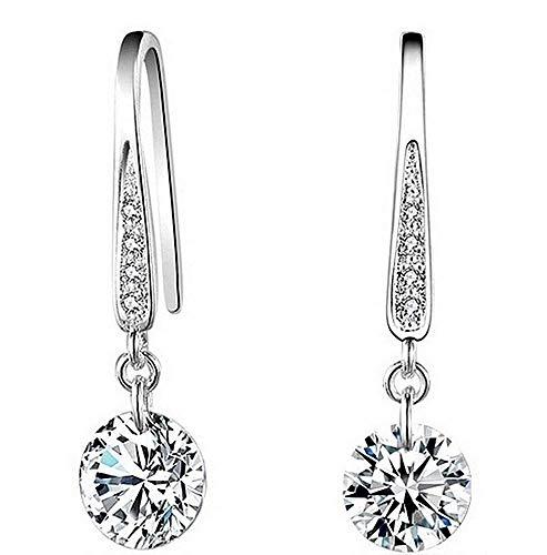 Oorbellen - lichtpunt - meisje - hangers - vrouw - zilveren kleur - elegant - cadeau-idee - verjaardag - kerstmis