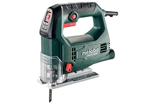 Metabo 601030500 decoupeerzaag STEB 65 QUICK | + blad hout, zaagblad metaal, sleutels, koffer | softgrip oppervlak/Vario elektronica/blaasfunctie (450 W | zwenkbereik - 45 / + 45 °)