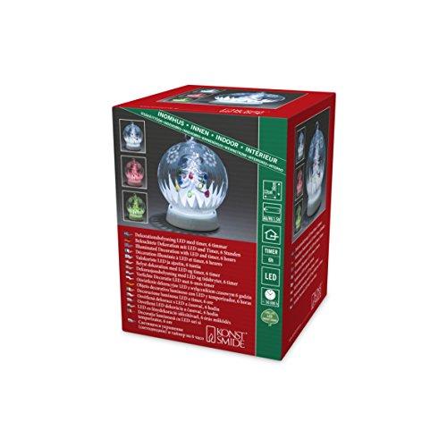 Konstsmide 3407-000 Boule de Verre à LED, Plastique/,, 0.12 W, Multicolore