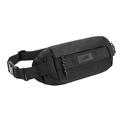 Urban Armor Gear Hip Pack Bolsa de Vientre / Cintura Hecha de Nylon 840D Duradero [Gran Compartimento Principal y Bolsillo Frontal con Cierre de Cremallera fácil, Correa de Hombro Ajustable] - Negro